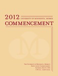 University of Minnesota, Morris 2012 Commencement