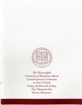 University of Minnesota, Morris 2001 Commencement