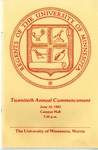University of Minnesota, Morris 1983 Commencement by University Relations