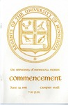 University of Minnesota, Morris 1981 Commencement