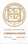University of Minnesota, Morris 1980 Commencement