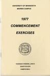 University of Minnesota, Morris 1977 Commencement