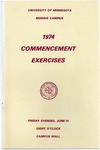 University of Minnesota, Morris 1974 Commencement