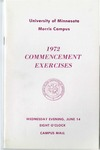 University of Minnesota, Morris 1972 Commencement