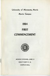 University of Minnesota, Morris 1964 Commencement