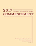 University of Minnesota, Morris 2017 Commencement by Communications and Marketing