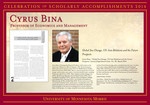 Cyrus Bina by Briggs Library and Grants Development Office