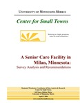 A Senior Care Facility in Milan, Minnesota: Survey Analysis and Recommendations