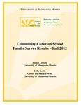 Community Christian School Family Survey Results: Fall 2012