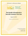 Kandiyohi and Renville County Public Health - Health Data Compilation by Kelly Asche and Jordan Wente