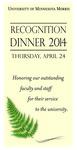 Recognition Dinner, 2014