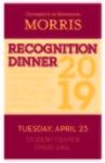 Recognition Dinner, 2019