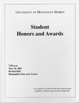 Student Honors and Awards Program 2001 by University Relations
