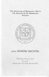 Honors Recital Program 2002 by University Relations