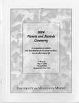 Student Honors and Awards Program 2004 by University Relations