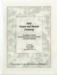 Student Honors and Awards Program 2005 by University Relations