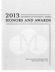 Student Honors and Awards Program 2013 by University Relations