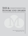 Student Honors and Awards Program 2014 by University Relations