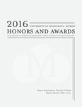 Student Honors and Awards Program 2016 by University Relations