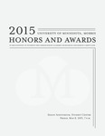 Student Honors and Awards Program 2015 by University Relations