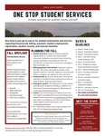 One Stop Student Services Newsletter: Fall 2020