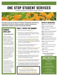 One Stop Student Services Newsletter: Summer 2021