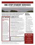 One Stop Student Services Newsletter: Fall 2021