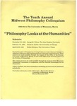 Tenth Annual Midwest Philosophy Colloquium, 1983-1984