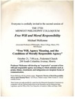Twenty-Seventh Annual Midwest Philosophy Colloquium, 2002-2003