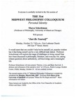 Thirty-First Annual Midwest Philosophy Colloquium, 2006-2007