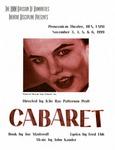 Cabaret, November 3-6, 1999