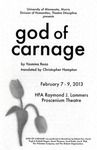 God of Carnage, February 7-9, 2013 by Theatre Arts Discipline
