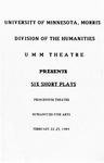 Six Short Plays, February 22-25, 1989