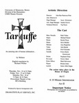 Taruffe, November 14-16, 1996 by Theatre Arts Discipline