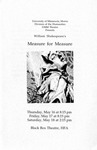 Measure for Measure, May 16-18, 1996