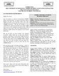 UMMRA Info: Volume XVI, Number 3 by University of Minnesota, Morris Retirees' Association