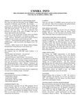 UMMRA Info: Volume VII, Number 4