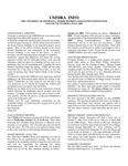 UMMRA Info: Volume VII, Number 2