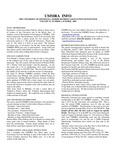 UMMRA Info: Volume VI, Number 1