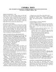 UMMRA Info: Volume IV, Number 3