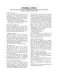 UMMRA Info: Volume III, Number 3