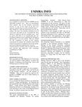 UMMRA Info: Volume II, Number 3 (v.2)