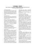 UMMRA Info: Volume II, Number 4
