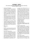 UMMRA Info: Volume III, Number 2