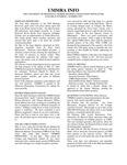 UMMRA Info: Volume II, Number I