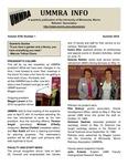 UMMRA Info: Volume XVIII, Number 1 by University of Minnesota, Morris Retirees' Association
