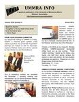 UMMRA Info: Volume XVIII, Number 3 by University of Minnesota, Morris Retirees' Association