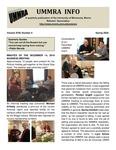 UMMRA Info: Volume XVIII, Number 4 by University of Minnesota, Morris Retirees' Association