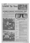 UMM to You: Fall 1987