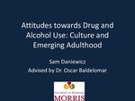 Attitudes Towards Drug and Alcohol Use: Culture and Emerging Adulthood by Sam Daniewicz